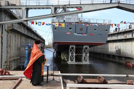 Северная верфь спустила на воду фрегат «Адмирал Головко»