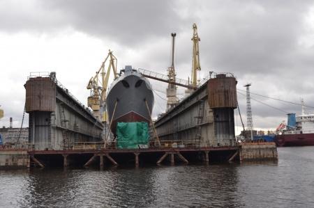 Severnaya Verf Shipyard prepares frigate Admiral Golovko to launch